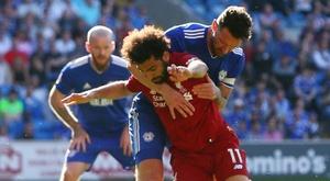 Salah aurait simulé selon l'entraîneur. AFP