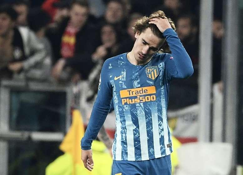 Griezmann no seu pior momento na temporada. AFP