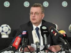 Reinhard Grindel démissionne de l'UEFA et la FIFA. AFP