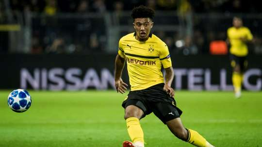 Sancho scored against Monaco in the Champions League. AFP
