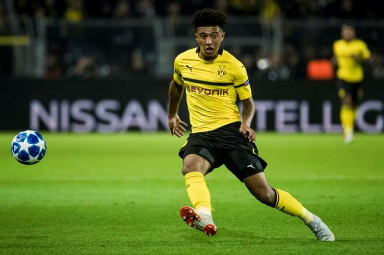An impressive start to Dortmund life has earned Jadon Sancho an England call-up. AFP