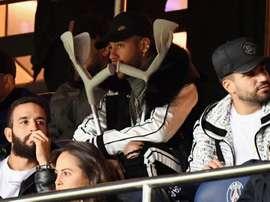 Neymar pourrait manquer trois matchs de Ligue des Champions. AFP