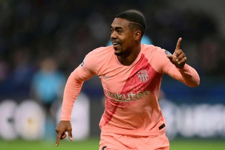 Malcom se estrenó con el Barça. AFP