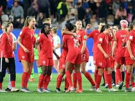 Les Canadiennes se qualifient pour les 8e de finale du Mondial. AFP