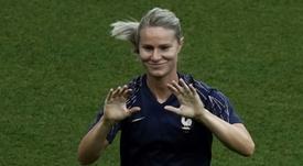 Rentrée des Bleues d'Amandine Henry face à l'Espagne. AFP