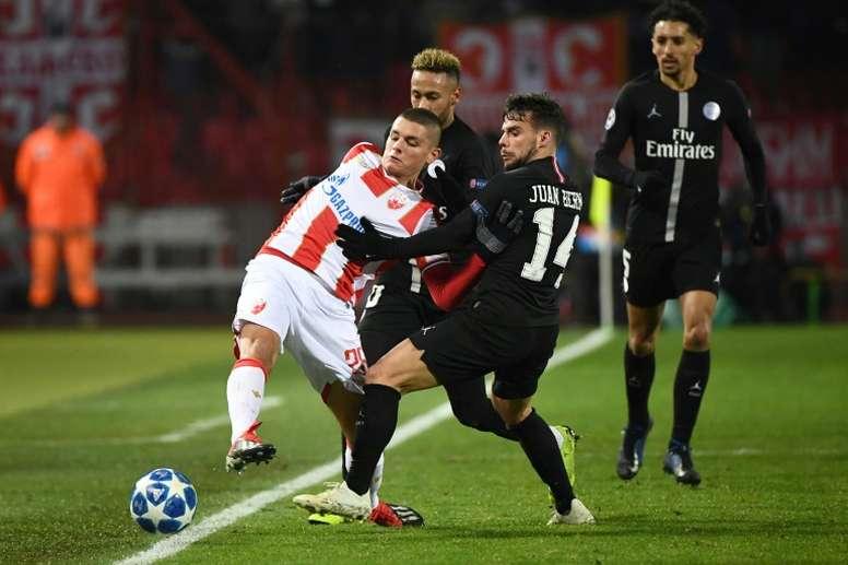 Bernat recordó la goleada del PSG al Real Madrid. AFP
