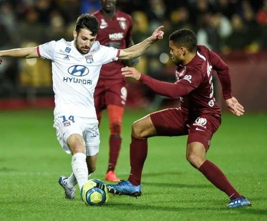 Um jogador do Metz tem o coronavírus, mas ainda não se sabe quem. AFP
