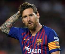 FC Barcelona Lionel Messi Camp Nou. AFP