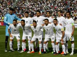 L'équipe d'Iran avant un match de qualifications pour le Mondial 2018, face à la Chine. AFP