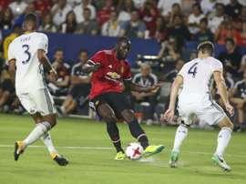 Lukaku se estreou com a camisa do United. AFP