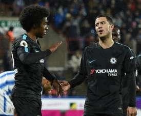 Hazard manquera beaucoup à Willian s'il s'en va. AFP