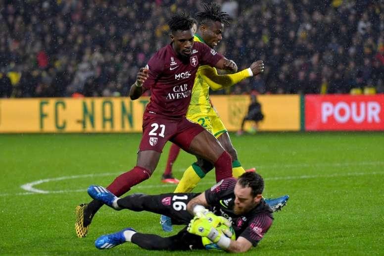 Nantes, pas tout à fait rassuré, bute sur Metz. AFP