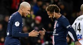 Neymar já marca há oito partidas seguidas. AFP
