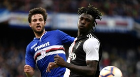 Moise Kean could join Roma in January. AFP