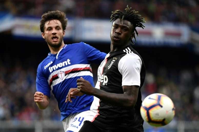 Moise Kean podría regresar a la Liga Italiana. AFP