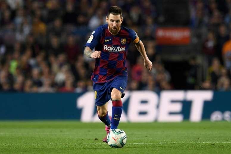 Messi falou sobre o seu futuro no Barcelona. AFP