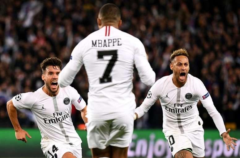 Neymar est heureux. AFP