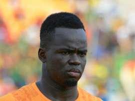 L'international ivoirien Cheick Tioté lors d'un match contre la Guinée à la CAN. AFP