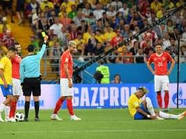 Neymar was fouled 10 times. AFP