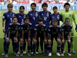 Les Japonaises lors du match-nul 0-0 face aux Argentines au Parc des Princes. AFP