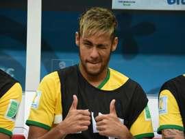 Neymar, le 12 juillet 2014, à Brasilia
