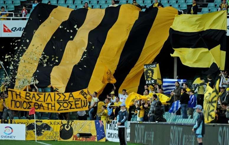 La Liga Griega se reanudará el fin de semana del 6 y 7 de junio. AFP