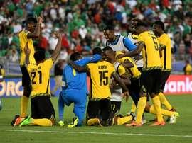 La surprenante équipe jamaïcaine victorieuse du Mexique en demi-finales de la Gold Cup. AFP