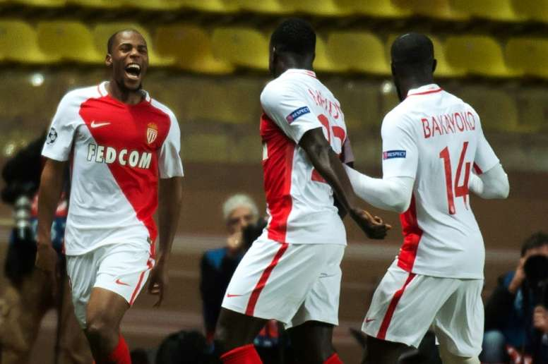 Djibril Sidibe (L) and Bakayoko (R) are transfer targets for Chelsea. AFP