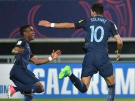 Dominic Solanke, buteur contre le Mexique, envoie l'Angleterre en demi-finales du Mondial U20. AFP
