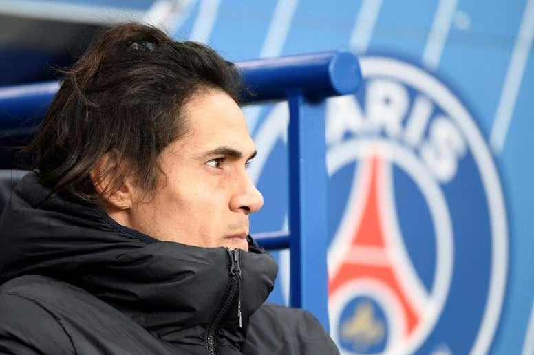 PSG will not be renewing Edinson Cavani's contract. AFP
