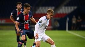 Ander Herrera disfruta del fútbol en Francia. AFP