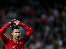 CR7 faz três e Portugal vence por 6 a 0. AFP