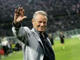 Le président de Palerme Maurizio Zamparini lors d'un match contre l'AC Milan. AFP