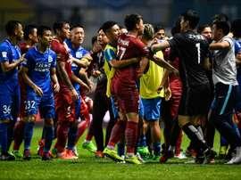 Bagarre générale entre joueurs du Shanghai SIPG et ceux de Guangzhou R&F. AFP