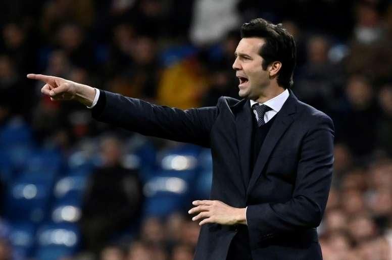 El Madrid ha ganado más puntos que el Barça en la 'era Solari'. AFP