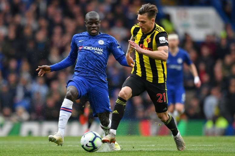 Zola has defended the decision to play Kante out of position. AFP