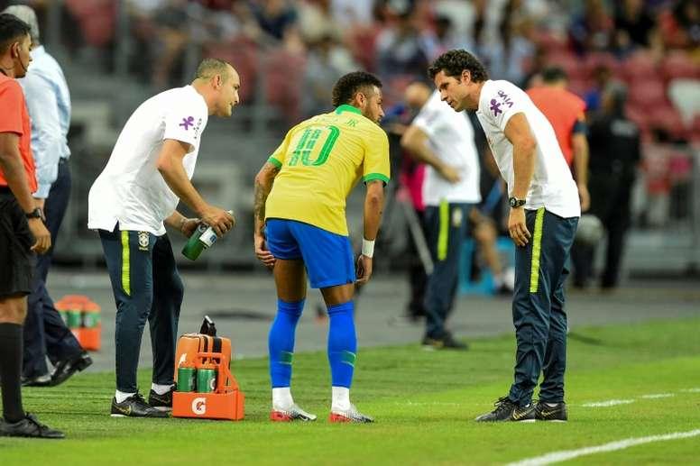 Neymar n'est pas convoqué avec le Brésil. AFP