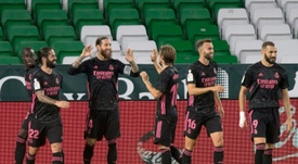Le groupe du Real Madrid pour affronter le Shakhtar Donetsk en Ligue des champions. afp