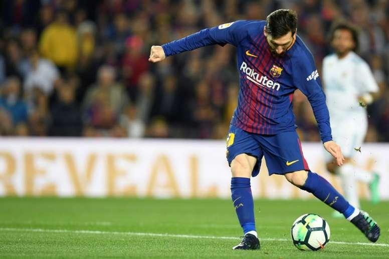 Messi, sin jugar, se llevó una gran noticia. AFP