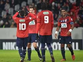 El Lille salvó un punto en casa. AFP