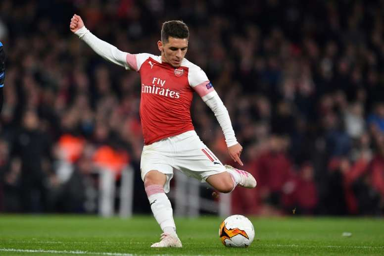 Lucas Torreira could return for Arsenal on Saturday against Wolves. AFP