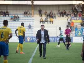 Le président du Sporting Toulon Claude Joye avant le début du match face à Sète. AFP