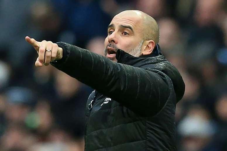 Guardiola seguirá en el Manchester City. AFP