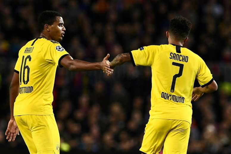 Aseguran que Sancho y el United llegaron a un acuerdo. AFP