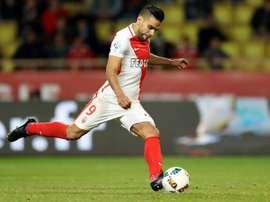 Falcao anotó el primer tanto del Mónaco. AFP