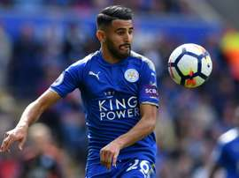 Mahrez's late free-kick earned Leicester a point. AFP