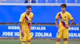 Riqui Puig finalement présent dans la première liste de Koeman. AFP