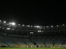 Les joueurs de Flamengo et de Bangu sentraînent avant un match. AFP