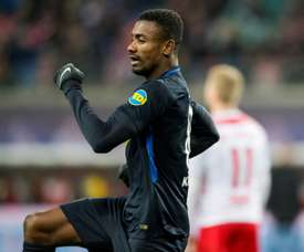 Le milieu Salomon Kalou auteur du 3e but du Hertha Berlin. AFP