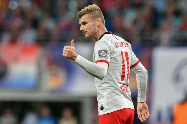 Werner anotó el 1-1. AFP